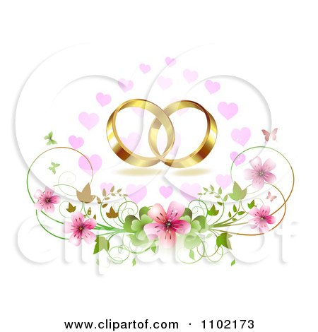 Clipart Gold Wedding Bands Over