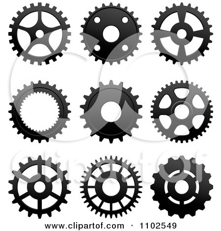 Clipart Black And White Gear Cog Wheels - Royalty Free ...