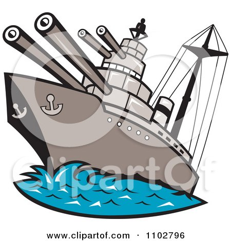 royalty free rf clipart illustration of a retro battleship at rh clipartof com battleship clipart black and white
