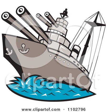 royalty free rf clipart illustration of a retro battleship at rh clipartof com navy battleship clipart battleship clip art free