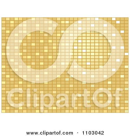 Clipart Golden Mosaic Background Pattern - Royalty Free Vector Illustration by Andrei Marincas