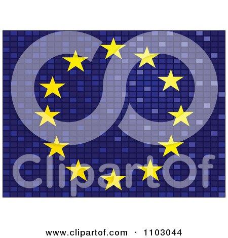 Clipart Mosaic European Flag - Royalty Free Vector Illustration by Andrei Marincas