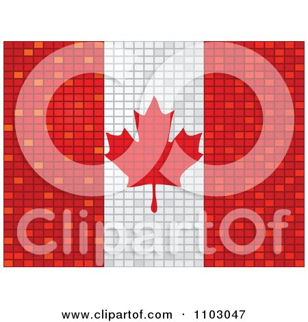 Clipart Mosaic Canadian Flag - Royalty Free Vector Illustration by Andrei Marincas
