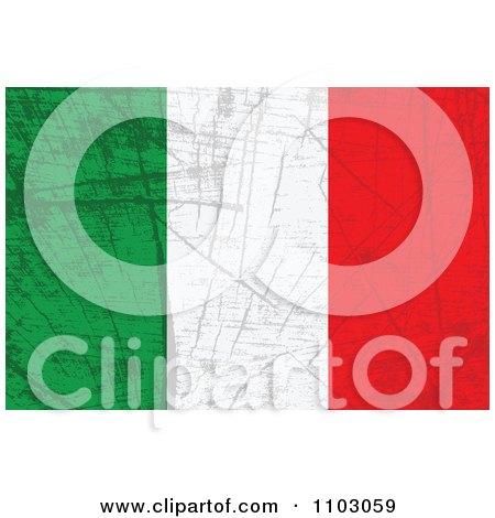 Clipart Grungy Italian Flag - Royalty Free Vector Illustration by Andrei Marincas