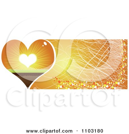Clipart Grungy Heart Sunset Website Banner - Royalty Free Vector Illustration by Andrei Marincas
