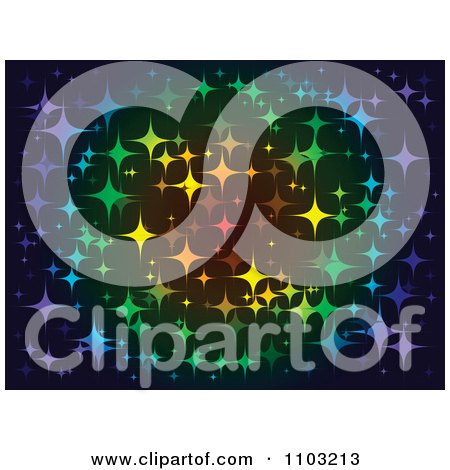 Clipart Background Of Colorful Twinkling Stars - Royalty Free Vector Illustration by Andrei Marincas