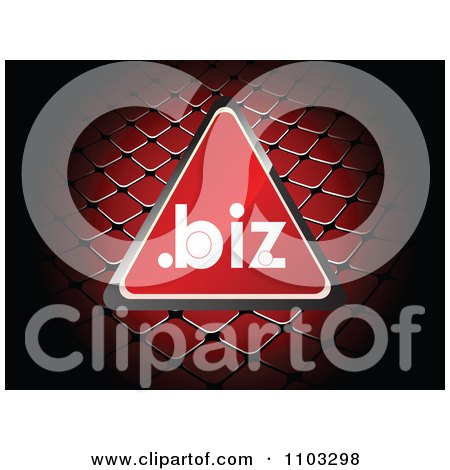 Clipart Reflective Red Dot Biz Triangle Over A Net - Royalty Free Vector Illustration by Andrei Marincas
