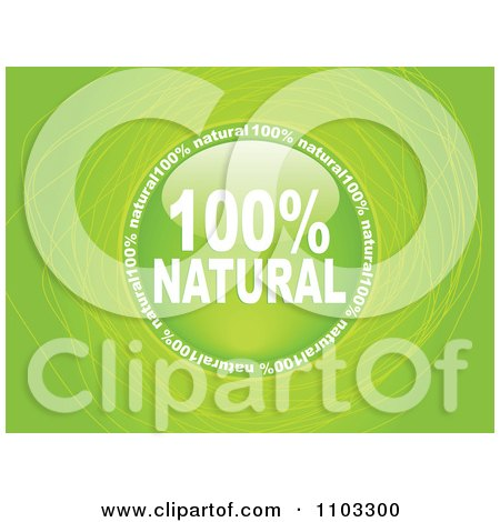 Clipart Reflective Round Natural Circle Over Green With Scribbles - Royalty Free Vector Illustration by Andrei Marincas