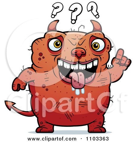 Clipart Dumb Ugly Devil - Royalty Free Vector Illustration by Cory Thoman