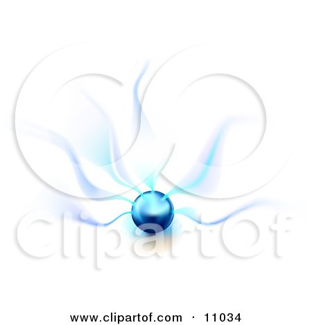 Blue Sphere With Electrical Arms Clipart Illustration by Leo Blanchette