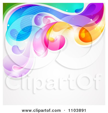 Clipart Colorful Splash With Copyspace On Gray - Royalty Free Vector Illustration by TA Images