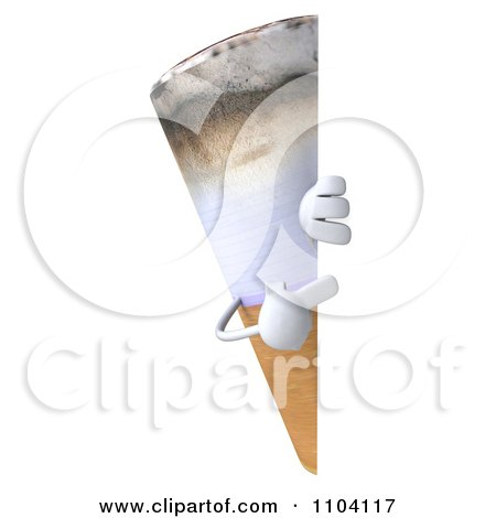 Clipart 3d Tobacco Cigarette Character With A Sign 3 - Royalty Free CGI Illustration by Julos