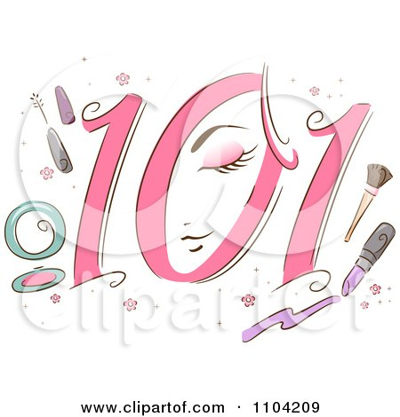 Clipart Beauty 101 Icon With Makeup - Royalty Free Vector Illustration by BNP Design Studio