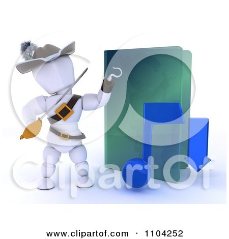 Clipart 3d Illegal Music Download White Character Pirate