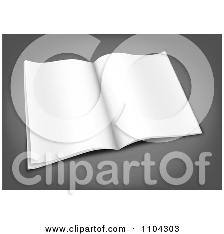 Clipart 3d Blank Open Magazine On Gray - Royalty Free Vector Illustration by vectorace
