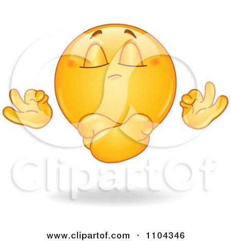 Meditate emoticon | Emoticons and Smileys for Facebook/MSN/Skype/Yahoo