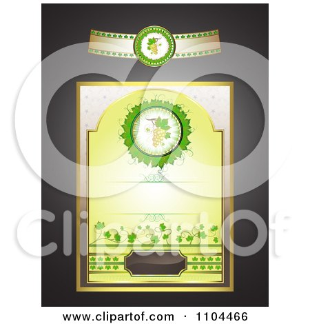 Clipart White Wine Label Design Elements - Royalty Free Vector Illustration by merlinul