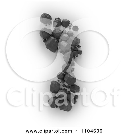 Clipart 3d Coal Forming A Foot Print - Royalty Free CGI Illustration by Mopic