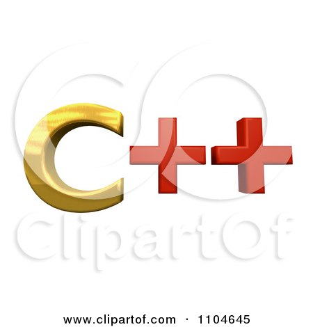 Clipart 3d Gold And Red Cpp Programming Language - Royalty Free CGI Illustration by Leo Blanchette
