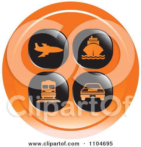 Clipart Orange Travel And Transportation Icon - Royalty Free Vector Illustration by Lal Perera