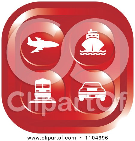 Clipart Red Travel And Transportation Icon - Royalty Free Vector Illustration by Lal Perera