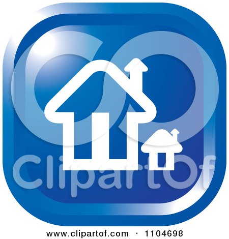 Clipart Blue Home Page Or House Icon - Royalty Free Vector Illustration by Lal Perera