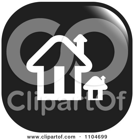 Clipart Black And White Home Page Or House Icon - Royalty Free Vector Illustration by Lal Perera