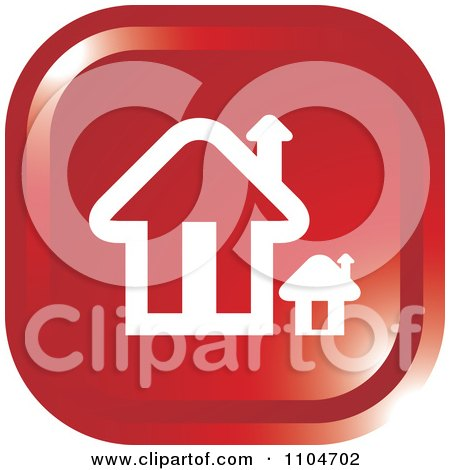 Clipart Red Home Page Or House Icon - Royalty Free Vector Illustration by Lal Perera