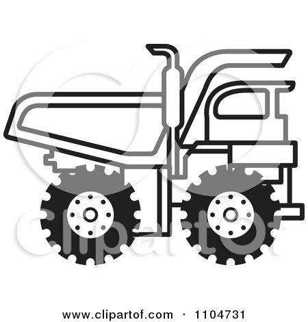 Black And White Dump Truck 1 Posters, Art Prints