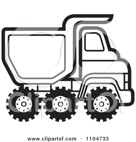 Clipart Yellow Dump Truck Hauling Coconuts - Royalty Free Vector ...