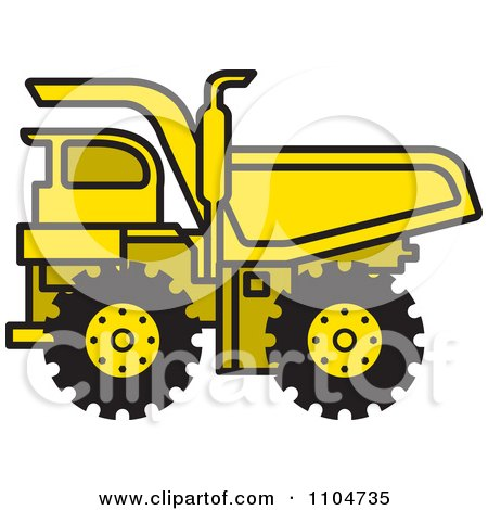 Yellow Dump Truck 1 Posters, Art Prints