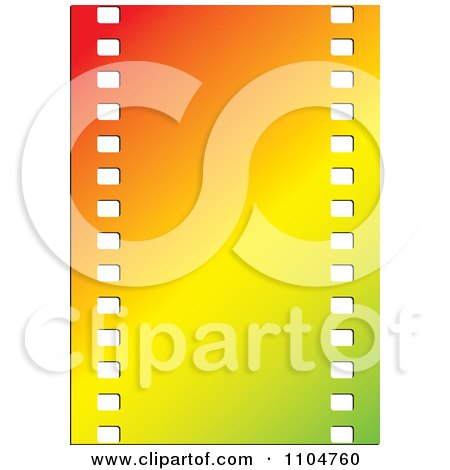Clipart Gradient Film Strip - Royalty Free Vector Illustration by Lal Perera