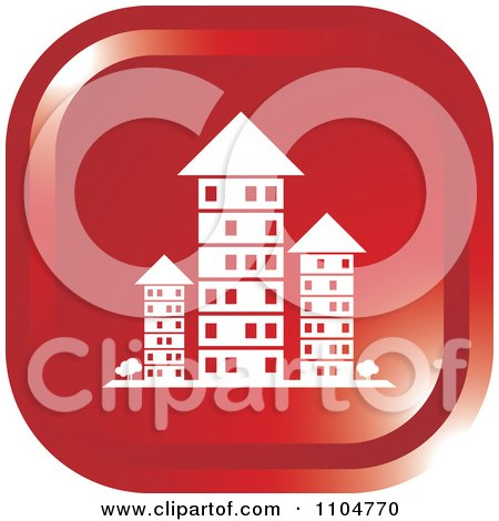 Clipart Red Investment Property Apartment Building Icon - Royalty Free Vector Illustration by Lal Perera