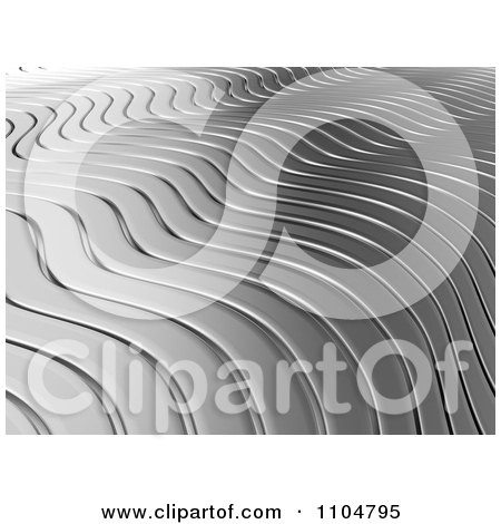 Clipart 3d Chrome Ripple Background 2 - Royalty Free CGI Illustration by Mopic