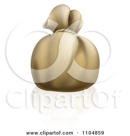 Clipart 3d Bank Money Bag Sack - Royalty Free Vector Illustration by AtStockIllustration