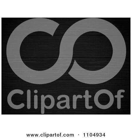 Clipart 3d Black Wood Panel Background - Royalty Free Vector Illustration by elaineitalia