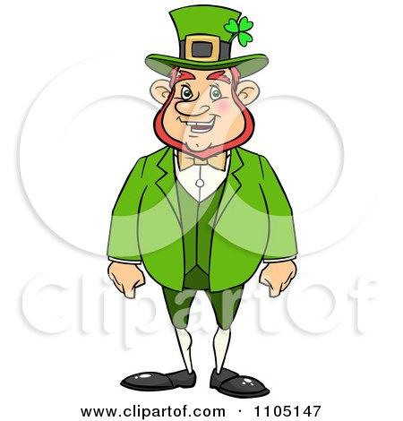 Clipart Happy Chubby St Patricks Day Leprechaun - Royalty Free Vector Illustration by Cartoon Solutions