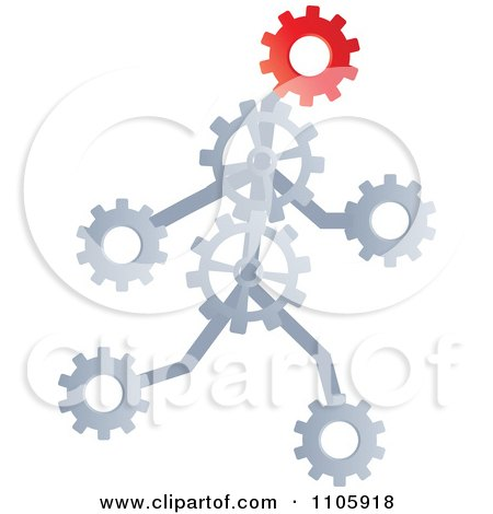 Clipart Runnin Gear Man - Royalty Free Vector Illustration by Andrei Marincas