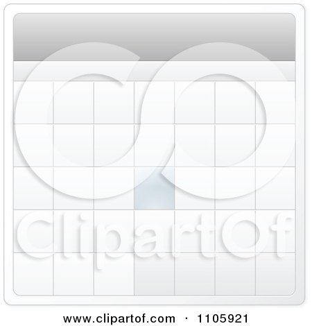 Clipart Monthly Calendar Template - Royalty Free Vector Illustration by Andrei Marincas