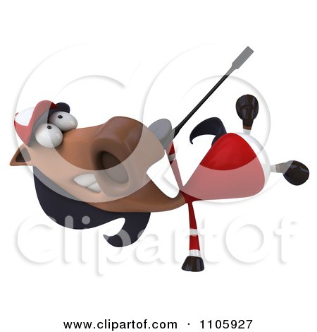 Clipart 3d Polo Horse Doing A Cartwheel - Royalty Free CGI Illustration by Julos
