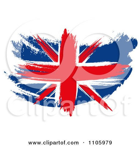 Clipart Painted Union Jack Flag - Royalty Free Illustration by MacX