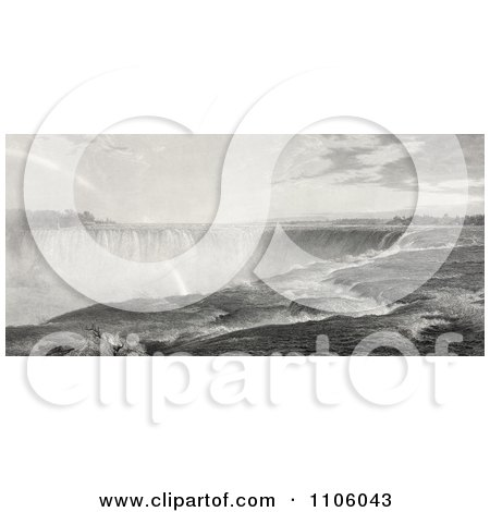 The Top Of The Niagara Falls - Royalty Free Historical Stock Illustration by JVPD