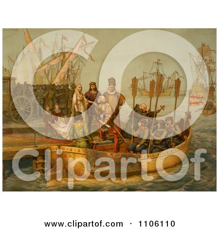 The First Voyage - Royalty Free Historical Stock Illustration by JVPD
