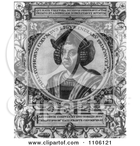 Christophorus Columbus - Royalty Free Historical Stock Illustration by JVPD