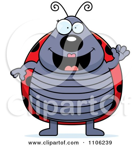 Clipart Happy Ladybug Waving - Royalty Free Vector Illustration by Cory Thoman