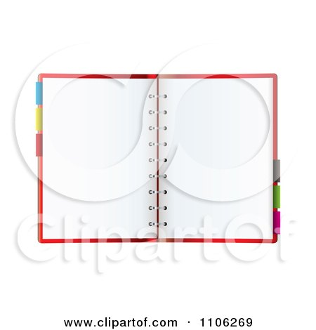 Tabs and blank pages royalty free vector ilration by michaeltravers