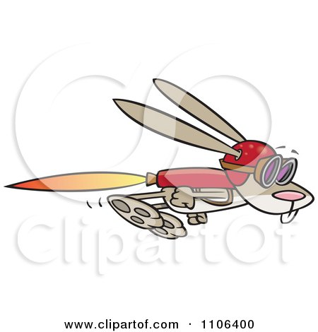 Rabbit Flying With A Rocket Jet Pack Posters, Art Prints