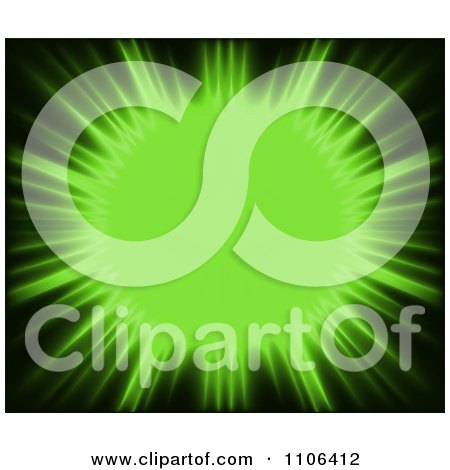 Clipart Lime Green Sun Burst - Royalty Free Vector Illustration by dero