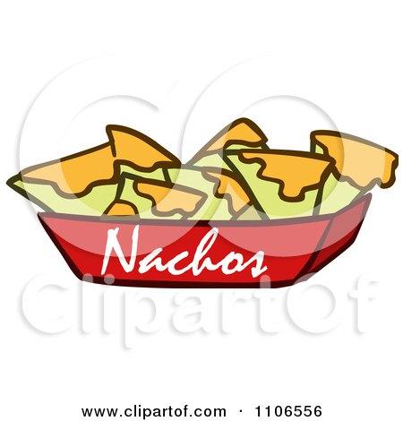 clipart tray of nachos and cheese royalty free vector illustration rh clipartof com Nacho Chips Clip Art Nachos Clip Art Black and White
