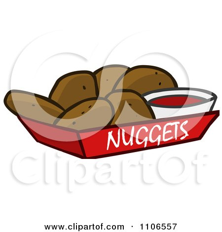 Royalty Free Rf Clipart Of Chicken Nuggets